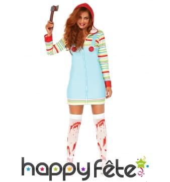 Robe salopette de Chucky pour femme
