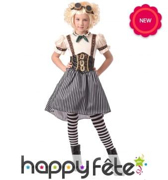 Robe steampunk pour fille