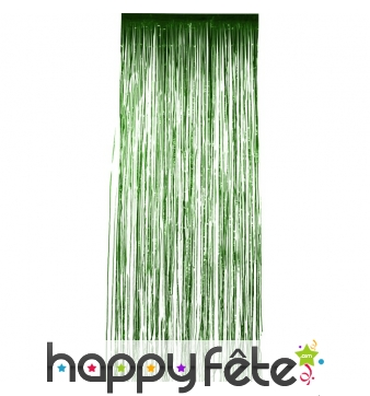 Rideau scintillant vert