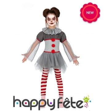 Robe tutu de clown pour halloween, enfant