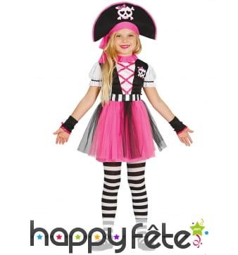 Robe tutu de pirate rose pour enfant