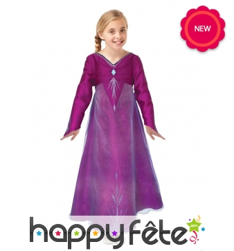 Robe violette de Elsa pour fille, Reine des Neiges