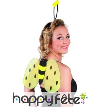 Set abeille avec ailes et serre tete