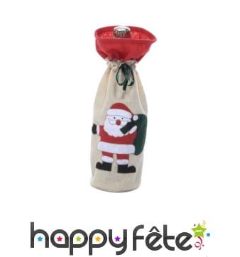 Sac à bouteille père Noël