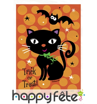 Sacs à bonbons décoré d'un chat noir