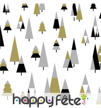 Serviettes arbre de noel tricolore
