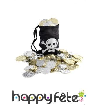 Sac argent pirate