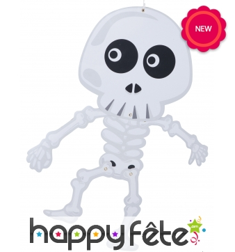 Squelette articulé rigolo à suspendre de 70cm