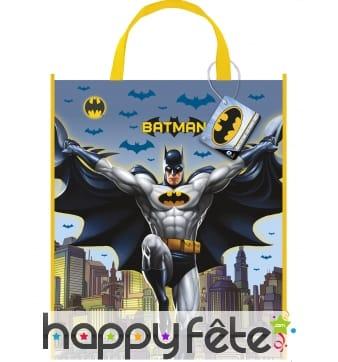 Sac Batman classique en plastique de 33 x 28 cm