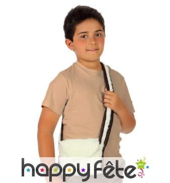 Sacoche blanche de berger pour enfant