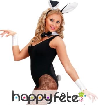 Set bunny, lapin noir et blanc