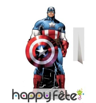 Silhouette captain America en carton taille réelle