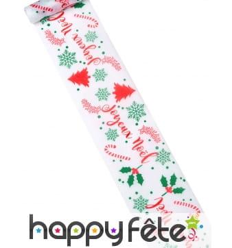Sur-chemin de table imprimé Joyeux Noël