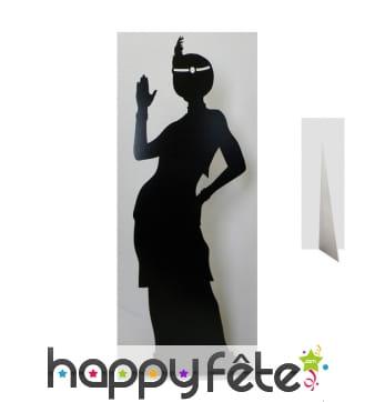Silhouette Charleston femme cabaret