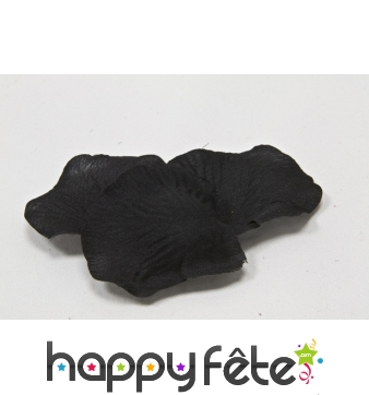 Sachet de 10 pétales noirs en tissu