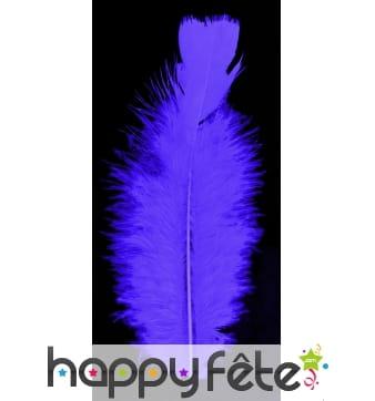 Sachet de 100 plumes violettes de 15cm