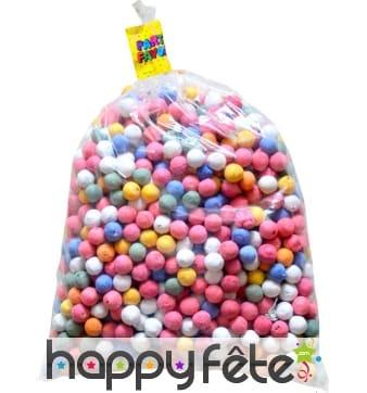 Sachet de 1000 boules dancing multicolores