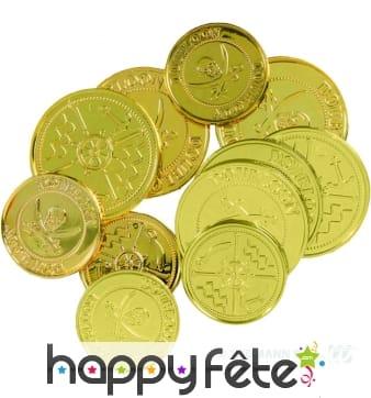 Sachet de 12 fausses pièces d'or