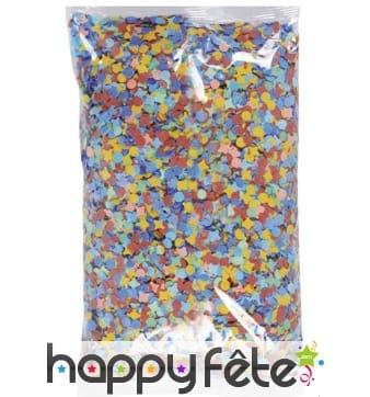 Sachet de 1kg confettis multicolores