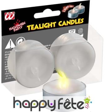 Set de 2 bougies led