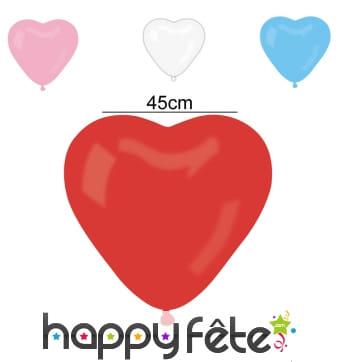 Sachet de 3 ballons coeur