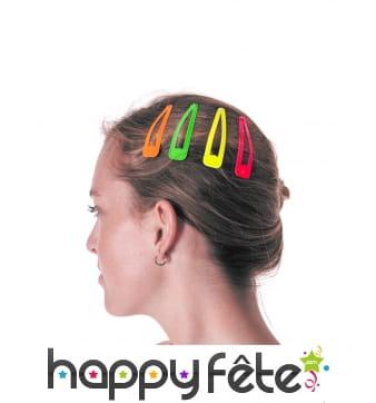 Set de 4 Barrettes colorées pour cheveux