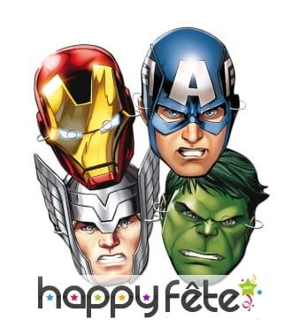Set de 6 masques Avengers en carton