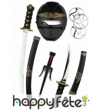 Set d'armes et accessoires de ninja pour enfant