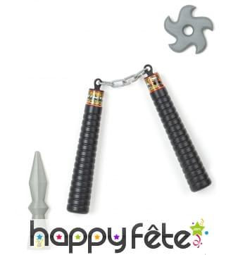 Set d'armes ninja en plastique, pour enfant