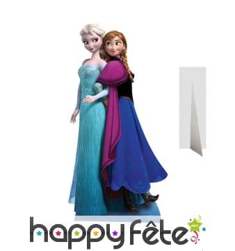 Silhouette de Anna et Elsa en carton taille réelle