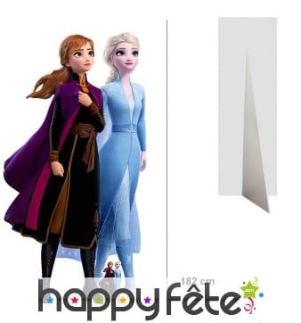 Silhouette de Anna et Elsa taille réelle