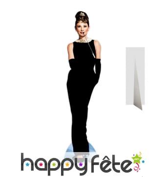 Silhouette de Audrey Hepburn en robe de soirée