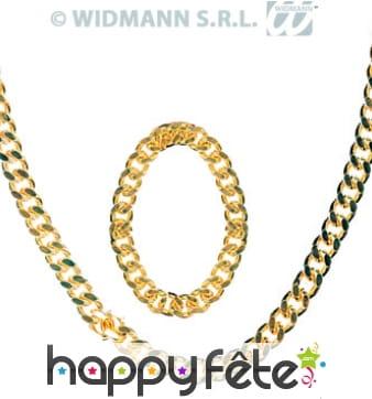 Set de bijoux pour gangster ou rapper