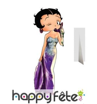 Silhouette de Betty Boop en robe de soirée