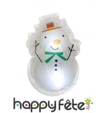 Stickers de bonhomme de neige lumineux, 15,5x12cm