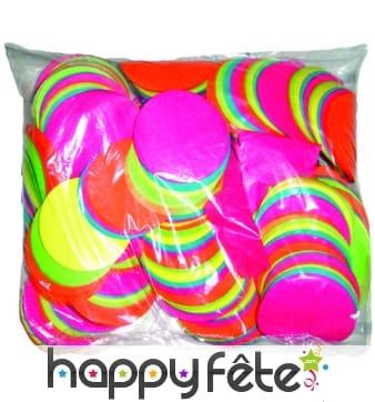Sac de confettis rond multicolore