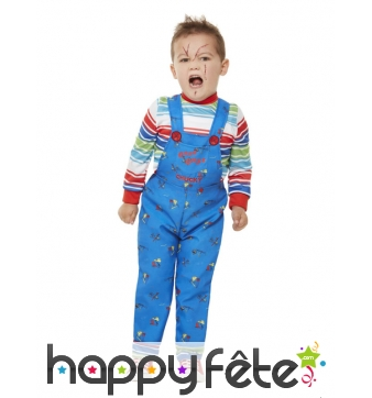 Salopette de Chucky bleue pour enfant