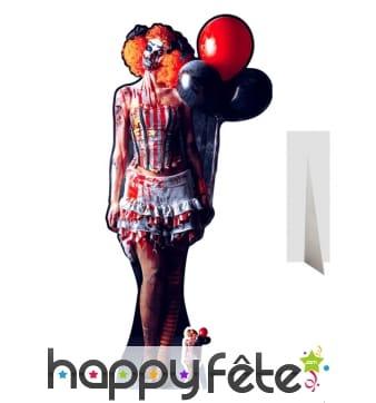 Silhouette de clownette diabolique taille réelle