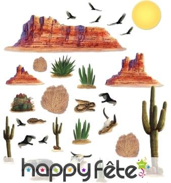 Set de décors du désert replacables