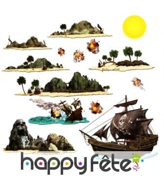 Set de décors pirates repositionnables