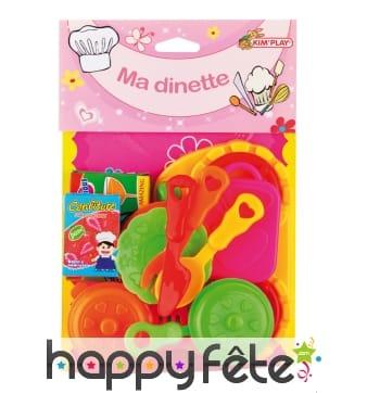 Set de dinette coloré avec petits accessoires