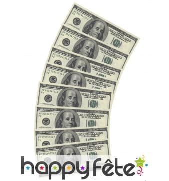 Serviettes Dollar en papier, par 10