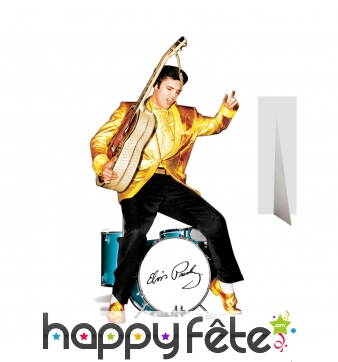 Silhouette de Elvis en concert, carton plat