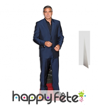 Silhouette de Georges Clooney tapis rouge