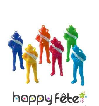 Sachet de jouets parachutistes colorés
