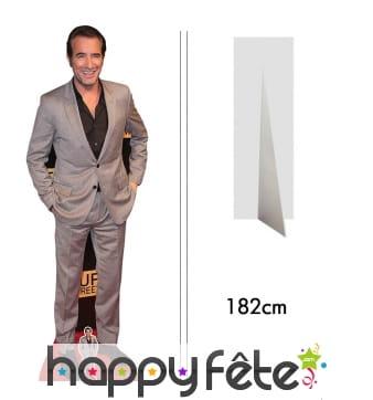 Silhouette de Jean Dujardin taille réelle