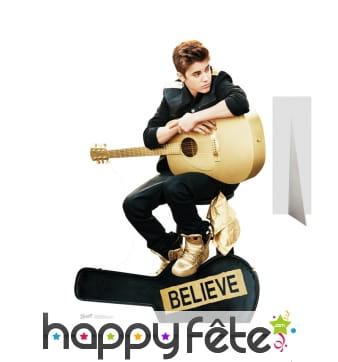 Silhouette de Justin Bieber et sa guitare