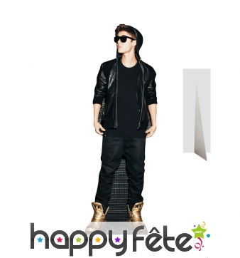Silhouette de Justin Bieber rock en carton