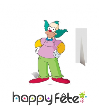 Silhouette de Krusty le clown en carton