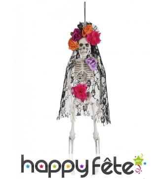 Squelette de lady calavera Dia de los muertos, 40cm